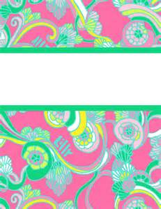 lilly pulitzer binder templates the preppy way binder cover templates
