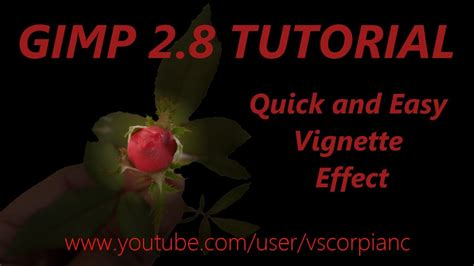 gimp quick tutorial gimp tutorial quick and easy vignette effect by