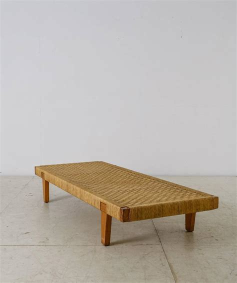 daybed bench mexican wood and cane bench or daybed 1950s for sale at 1stdibs