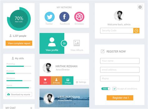web layout ui kit 20 free ui kits icons for your flat web designs
