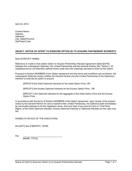 sample letter notifying intent break lease sample