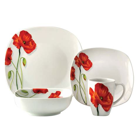 scarlet poppy 16 pieces dinner set my dinner table pinterest dinner sets kitchenware and