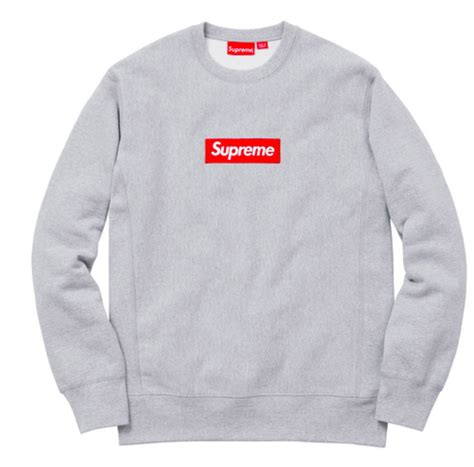 supreme clothing europe supreme grey box logo sweater xl 268371 from