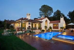 Hope ranch spanish style custom home exterior mediterranean exterior