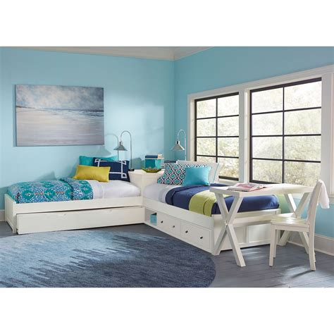 L Ideas For Bedroom by Ne Pulse White L Shaped Bed With Storage And Trundle