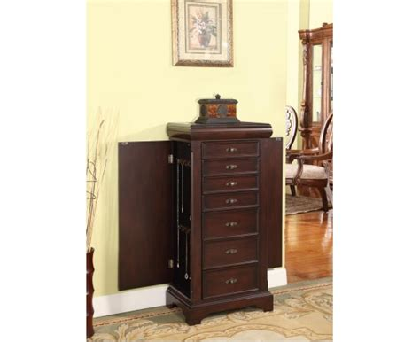 locking jewelry armoire louis alexandre 7 drawer locking jewelry armoire product nathan direct