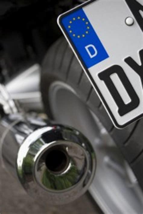 Motorrad Auspuff Kennzeichnung das neue motorrad kennzeichen kurz schmal schick