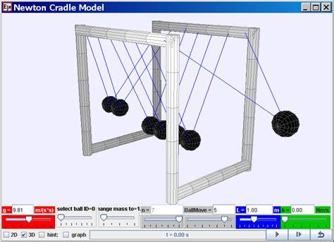 newtons swing ejs open source newton s cradle java applet by fu kwun