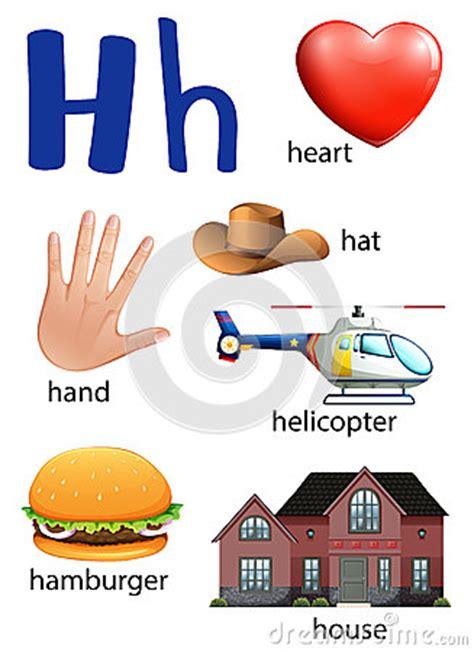 imagenes q empiecen con la letra h cosas que comienzan con la letra h ilustraci 243 n del vector
