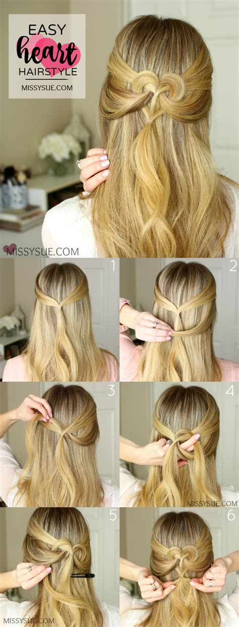 easy hairstyles do them heart hairstyles 2 ways missy sue