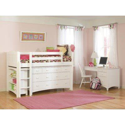 loft bed accessories cottage low loft bed in white with essex accessories