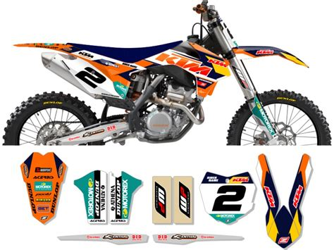 Ktm Decals Ktm Race Team Graphic Kit 2014 Factory