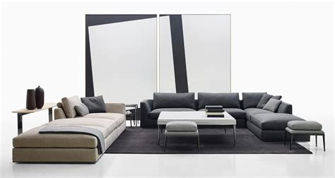 divani b richard sofa modular seating systems from b b italia