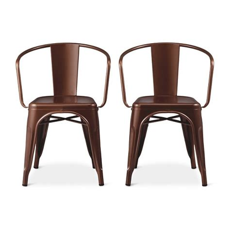 Carlisle Low Back Metal Dining Chair Target Target Metal Dining Chairs