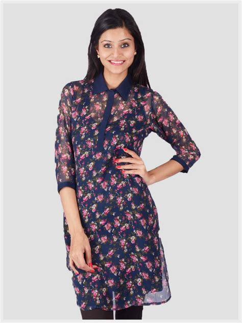 Daily Tunic products buy printed collared tunic from uptown galeria clothing pvt ltd india id 764136