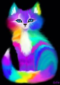 colorful cats colorful kitten nick gustafson digital animals