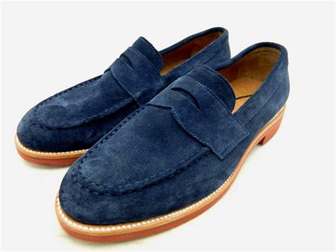 j crew mens kenton suede loafers 10 5 navy 198