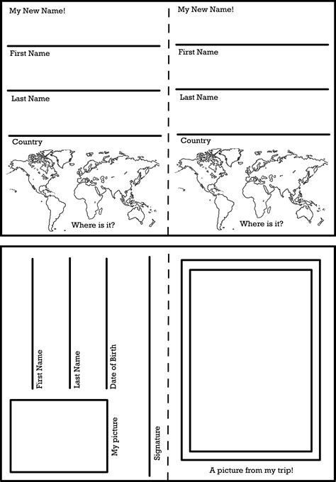 activity pass card template activity worksheets and printables the change your name
