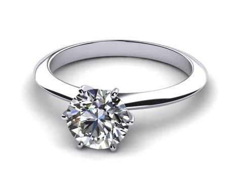 knife edge six prong engagement ring