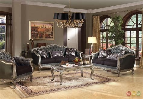 Fancy Living Room Sets - chantelle rococo 5 pc formal living room set carved
