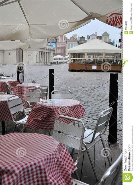 small cafe   street   city royalty  stock