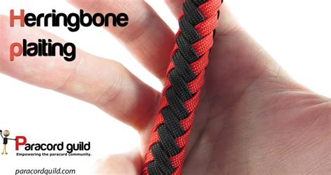 Decorate Your Own Home Herringbone Plaiting Around A Core Paracord Guild