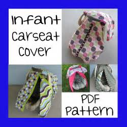 Seat Cover Sewing Pattern Infant Car Seat Cover Pdf Pattern Sew Your Own