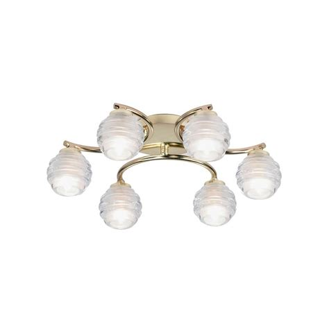 The Range Ceiling Lights 1732 Range D 1732 6bp Flush 6 Light Ceiling