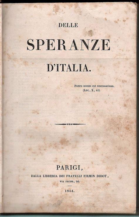 libreria antiquaria piemontese delle speranze d italia libreria antiquaria piemontese