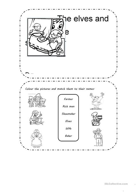 printable elf activities activities based on the elves and the shoemaker worksheet