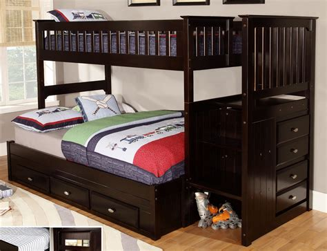 full over full bunk bed with stairs lovely full over full bunk beds with stairs 6 twin over