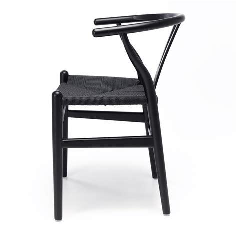 wishbone dining chair black  black seat furniture  design fbd