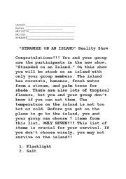 trapped on an island worksheet english worksheets stuck on an island
