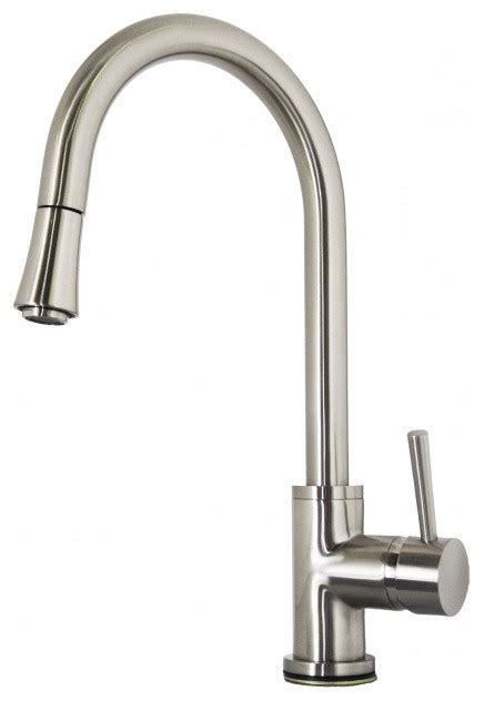 brushed nickel single kitchen faucet modern