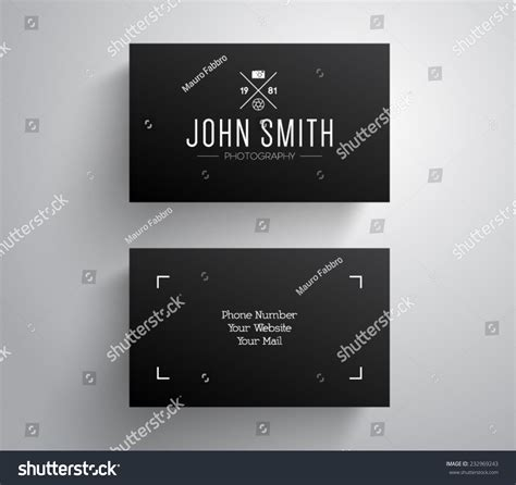 photographic card template vector photographer photography business card template