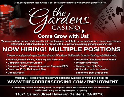 The Gardens Casino by The Gardens Casino Is Hiring For Apply