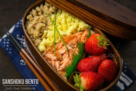 the just bento cookbook 2 make ahead easy healthy lunches to go books sanshoku bento 三色弁当 just one cookbook