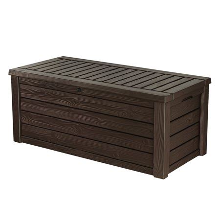 Keter 150 Gallon Patio Storage Bench Deck Box - keter westwood 150 gallon outdoor deck box resin patio