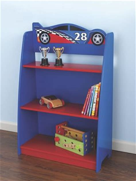 kidkraft race car bookshelf from one step ahead 724217