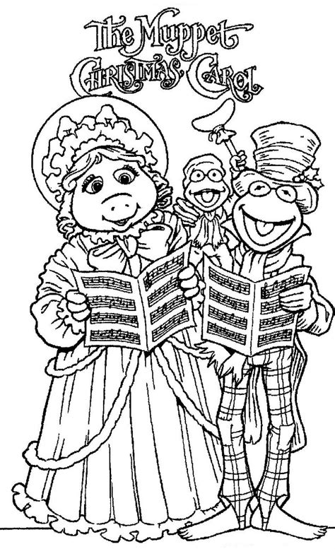 coloring pages of a christmas carol mostly paper dolls the muppet christmas carol movie