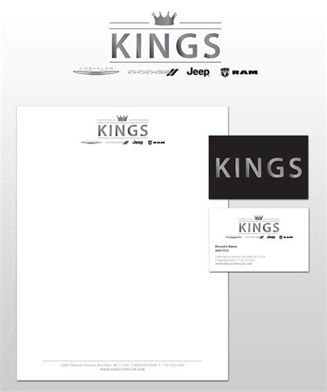 King S College Letterhead Auto Dealership Logo Id On Behance