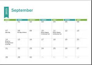 Word 2015 Calendar Template by Ms Excel Academic Calendar Template 2015 2016 Word