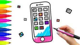 color mobile phone coloring book drawing kids learning paint colored