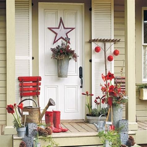 rustic christmas decor southern living 39 cool small front porch design ideas digsdigs