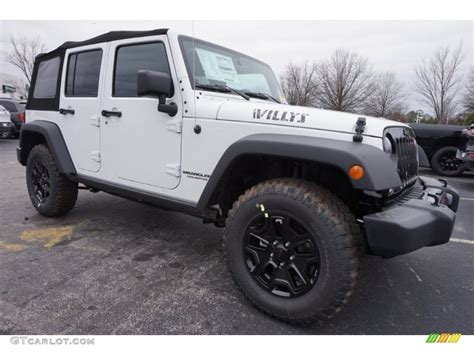 jeep willys white 2015 bright white jeep wrangler unlimited willys wheeler
