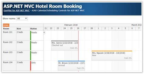 tutorial asp net webforms asp net mvc hotel room booking daypilot code