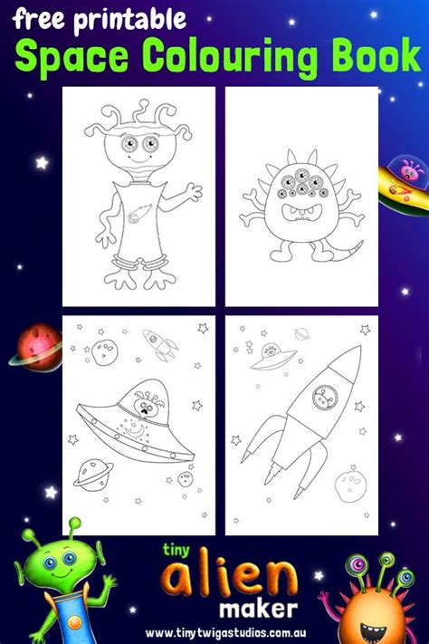 stargazer space colouring book tiny alien maker free space colouring book printable make alien friends crazy space pets