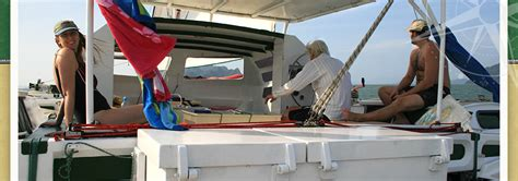big catamaran sailing adventures yacht charter in thailand with siam sailing