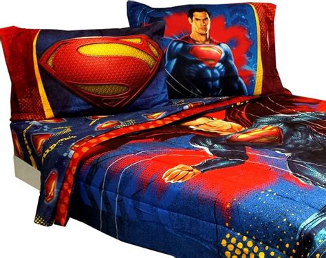 new superman super steel bedding set dc comics superhero