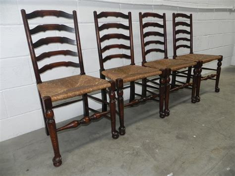 Antique Ladder Back Chairs With Seats by 8 Country Ladder Back Seat Chairs Antiques Atlas